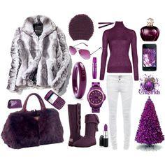 Purple Winter Wonderland Style...
