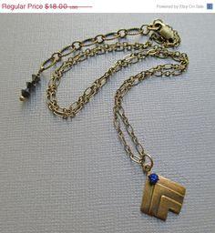 SALE 15 Off Chevron Necklace  Geometric Necklace by ParisienneGirl, $15.30
