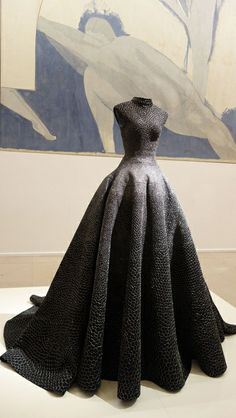 Azzedine ALAÏA stunning full skirted gown with all over embellishment...x