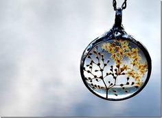 Real Flower Jewelry Yarrow Dried Flowers Real by BayouGlassArts