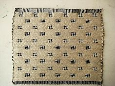 At Swim-Two-Birds | double weave | cotton + linen | c. 2009