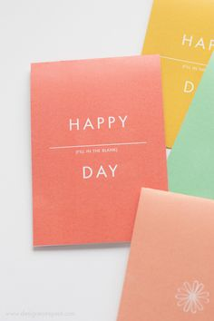 """""""Happy-Anything"""" Printable Floral Cards"""