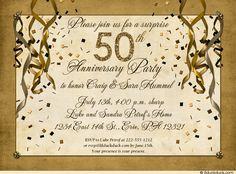 Surprise 50th Anniversary Party Invitation