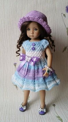 """The outfit for dolls 13"""" Dianna Effner Little Darling)) Handmade 