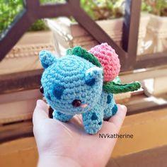 [FREE SHIPPING] Chibi Ivysaur amigurumi by NVkatherine