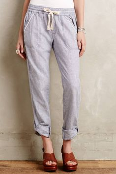 Linen Crops by Hei Hei #anthrofave #anthropologie  these look so comfy