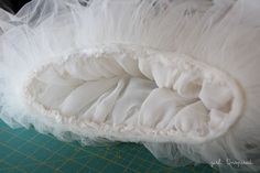 HOW TO MAKE A TUTU:  Supplies:  5 yards lightweight tulle  1/2 yard lining fabric  1/4 yard thick knit  1 yard 3/4″ elastic