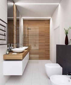 The other small bathroom design ideas are fresh and revolutionary, rethinking what we expect a bathroom design should look like. design badezimmer 10 Small Bathroom Ideas for Minimalist Houses Houzz Bathroom, Small Bathroom Tiles, Modern Bathroom Design, Contemporary Bathrooms, Bathroom Interior Design, Bathroom Goals, Interior Ideas, Luxury Bathrooms, Bathroom Mirrors