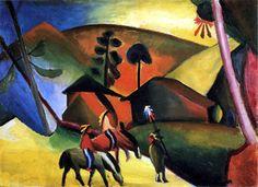 August Macke - Indianer auf Pferden 1911