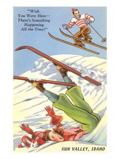 Sun Valley, Idaho, Cartoon Skiers