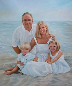 Welcome to our store. Please promote american artists. Made in USA. Experts in portraits. ✿ Custom Original Oil Portrait for Four