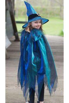 Kostüm Hexen-Cape mit Hut 5-6Jahre