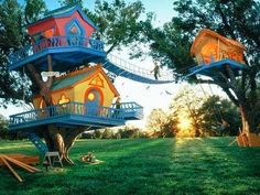 Really loved this kid's tree houses :) #Architecture