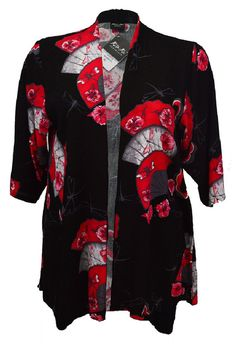 Product Details: J811Q Jacket Bianca Whimisical  100% Rayon Crinkle  Price: $79.95