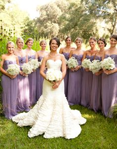 WeddingChannel Galleries: Long Purple Bridesmaid Dresses