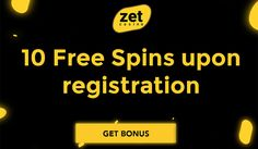 Sign up with Zet Casino and receive 10 free spins no deposit bonus! Also, you will get a 100% match welcome bonus up to €500 plus 200 free spins.  Zet Casino is one of the newest additions to the online casino market, and to show players they mean business, they are giving all new sign-ups exclusive bonuses. They made sure all new players have access to some of the best games around. These include slot games from NetEnt, Microgaming, Play n'Go, etc.  #ZetCasino #FreeSpins #NoDepositBonus Mobile Casino, Casino Bonus, New Sign, Online Casino, Best Games, Spinning, Slot, Meant To Be, Marketing