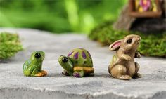 Miniature Dollhouse FAIRY GARDEN ~ Fairytale Animals Set of 3 ~ NEW #Giftcraft