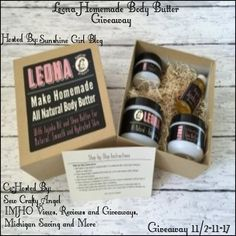 Leona Homemade Body Butter Giveaway Ends 11/17