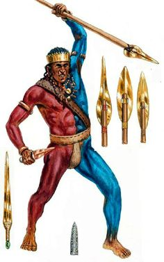 3000 -1700 B.C.,  Early Aegean warrior - art by Giuseppe Rava.