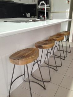 Tractor stools Kitchen Things, Kitchen Reno, Tractor, Bar Stools, Furniture, Home Decor, Kitchens, Bar Stool Sports, Decoration Home