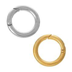 5 Sicherheitsringe 25mm Karabiner Ringverschluss dick Schlüsselring silber gold | Sonstige Verschlüsse | Verschlüsse | Bacabella.com Perlen und Schmuckzubehör zum DIY Schmuck selber machen basteln