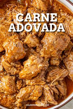 This carne adovada recipe is pure New Mexico in a bowl, with tender chunks of pork simmered in a rich and flavorful red chili gravy. Carne Guisada Recipe Mexican, Mexican Pork Recipes, Mexican Dishes, Meat Recipes, Carne Adovada New Mexico Recipe, Cooking Recipes, Mexican Pork Tacos, Recipies, Adobada Recipe