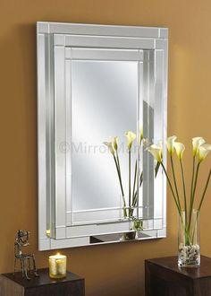 Roman Handmade Modern Bevelled Wall Mirror - All Mirrors - Mirrors