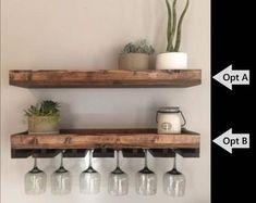 Built In Glass shelves Bookshelves - - Hanging Glass shelves From Ceiling - Floating Glass shelves Display Wine Rack Shelf, Wine Glass Shelf, Wine Rack Wall, Wood Wine Racks, Wine Glass Holder, Glass Shelves, Floating Shelves, Bar Shelves, Glass Rack