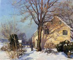 Edward Willis Redfield - The Homestead Winter Landscape, Landscape Art, Landscape Paintings, Impressionist Landscape, Impressionist Paintings, Classical Realism, American Impressionism, Landscape Structure, Art Folder