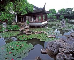 Chinese Garden Design in Feng Shui Style  - http://mostbeautifulgardens.com/chinese-garden-design-in-feng-shui-style/