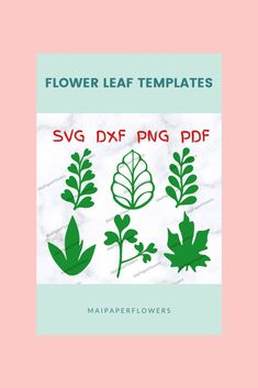 These paper flower leaves Svg and printable are great for making paper flowers diy projects. They can be used with printers, Cricut and Silhouette. Click through for more views!!! #paperflowerleaves #paperflowerleavessvg #flowerleavescricut #leavesprintable #flowerleavestemplate #makingpaperflowers #paperflowersdiy