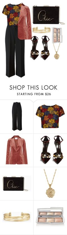 """""""Untitled #652"""" by shushanik-matevosyan ❤ liked on Polyvore featuring Givenchy, Alice + Olivia, Frame, Lanvin, Kate Spade, 2028, Stella & Dot and Hourglass Cosmetics"""