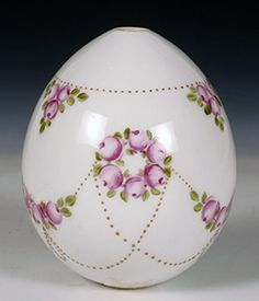 An Imperial Porcelain Factory Easter egg, ca 1900.  John Atzbach Antiques…