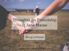 Monday, October 2, 2017   Today we have our first post in our Friendship series! Our guest blogger today is Miss Jane Maree, and you should...