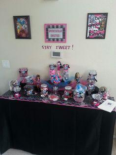 Monster High party candy buffet
