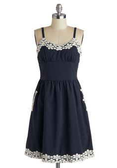 Appliques Now Accepted Dress in Navy, #ModCloth