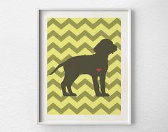 Dog Love Print Pet Art Dog Home Decor Wall by LotusLeafCreations, $10.00