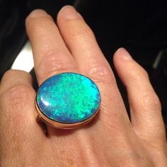 My favorite opal ring.  I call this one 'a flashlight.' #jamiejosephjewelry