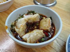 Red oil wonton - delicious!