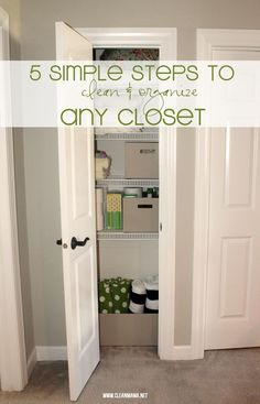Closets overflowing? Break down the organization process in to manageable steps with this tutorial.