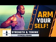 Tone and strengthen your arms with these fitness combos and show them off! This workout is for everyone, men and women, who would like to shape up their arms and upper body as well as burning some calories. Toning Workouts, At Home Workouts, Fitness Workouts, Workout For Beginners, Upper Body, Hiit, How To Stay Healthy, Burns, Strength