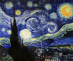 Vincent Van Gogh, Starry Night, placed 5th on overstockArt's 2015 Top 10 Art List. Hand painted reproductions are available in a variety of sizes at overstockArt.com. #oilpainting