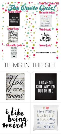 """the quote quiz"" by bamalife on Polyvore featuring art"