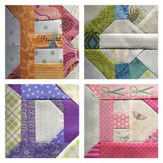 Patchwork Letters - click on the photo and then the arrows for letter by letter and also numbers