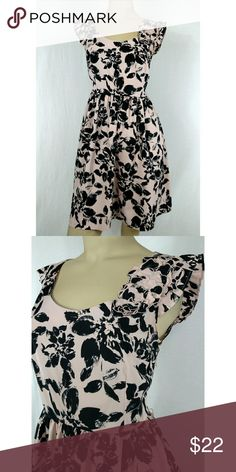 ELLE PINK  WITH BLACK FLORAL PRINT. SMALL Super cute floral dress by ELLE. Size SMALL. New without tags. Elle Dresses