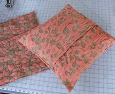 easy throw pillow - this might be my first project on my new sewing machine!