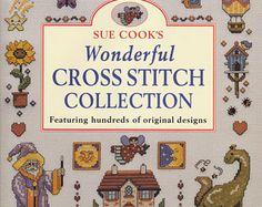 Wonderful Cross Stitch Collection- Vintage Craft Book - Hundreds of Original Designs - Samplers, Home Decor, Holidays