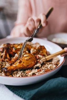 Arabian Food, Lebanese Recipes, Middle Eastern Recipes, Kung Pao Chicken, Risotto, Chicken Recipes, Lunch, Meat, Baking