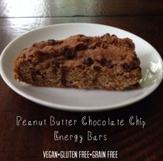 Peanut Butter Chocolate Chip Bars Recipe | Fit Foodie Mama