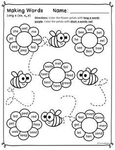 LONG E/EE BUZZ! & ACTIVITY SHEETS (FREEBIE!) (WORKS WITH HONEYBEES STORY) - TeachersPayTeachers.com